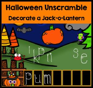 Halloween Unscramble