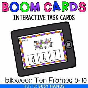Halloween Ten Frames by Tools for Busy Hands