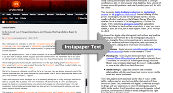Instapaper extras: textbookmarklet
