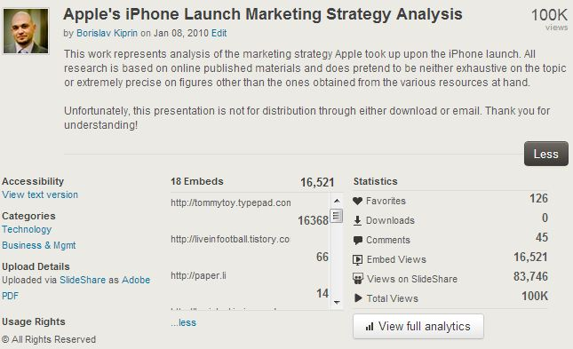 """Apple Strategy"" Analytics 24.01.2012"