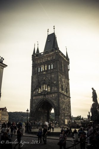 Charles Bridge Tower - the opposite side