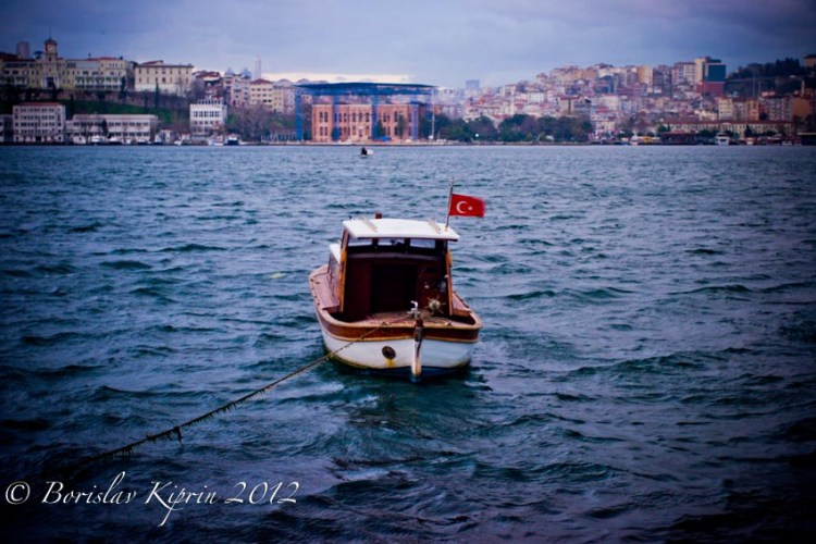 A Golden Horn boat