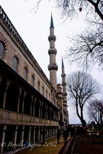 The Blue Mosque minarets