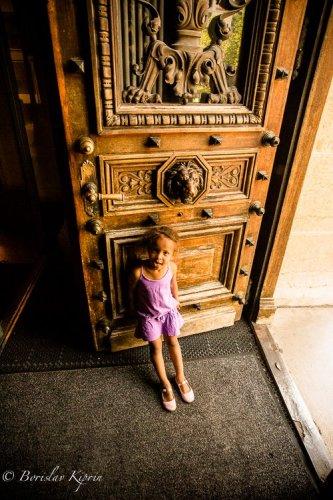 Holding the door