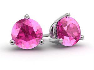DeBebians Fine Jewelry Pink Topaz Gold Earrings #Giveaway