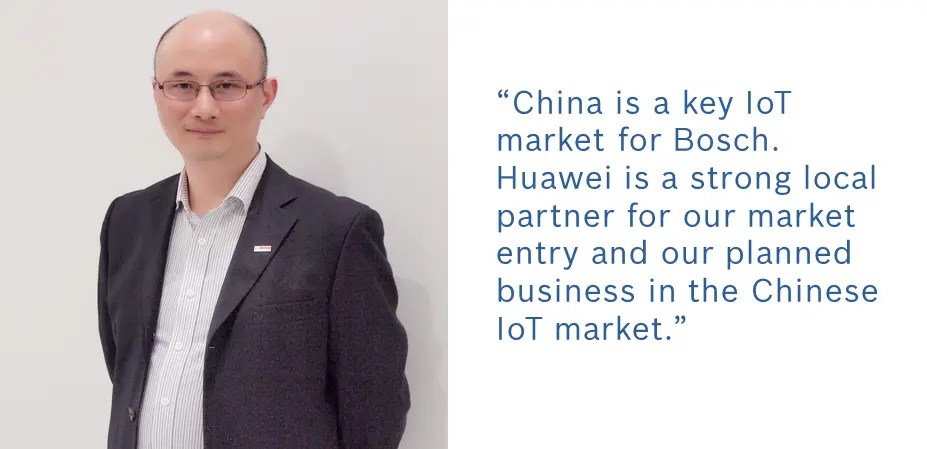 China is a key #IoT market for Bosch. @Huawei is a strong local partner for our market entry and our planned business in the Chinese IoT market. #BoschIoTSuite
