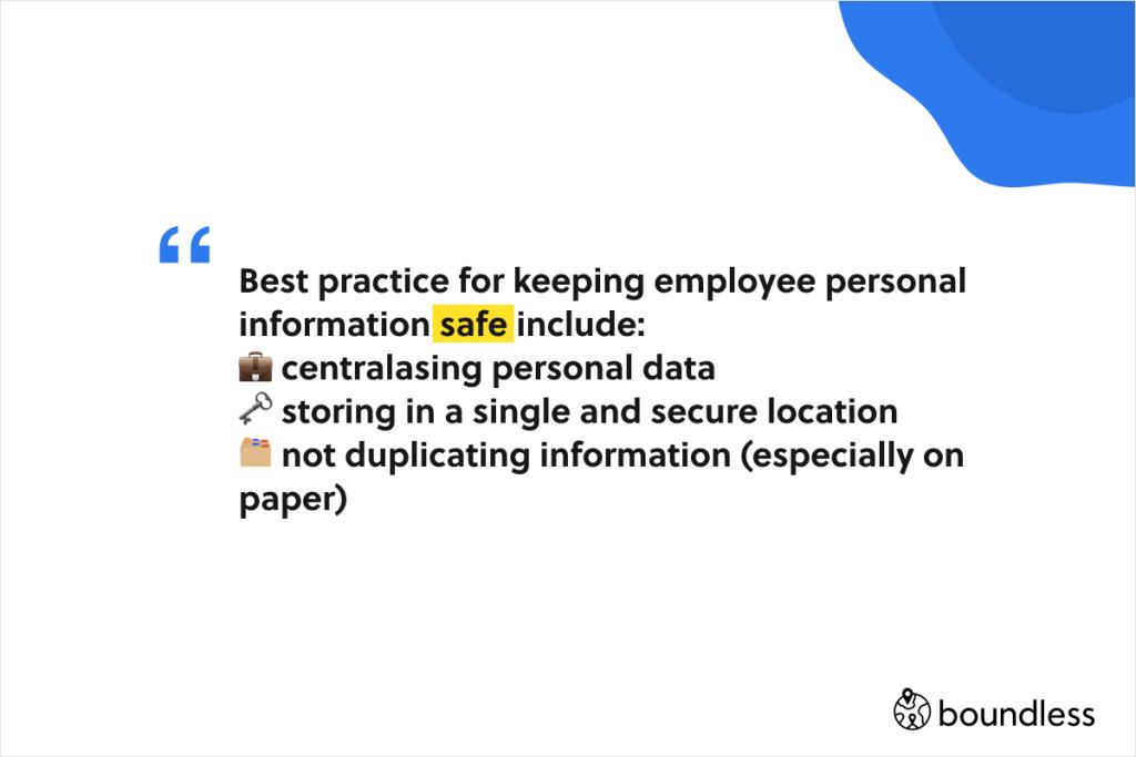 best practice for keeping international payroll employee information