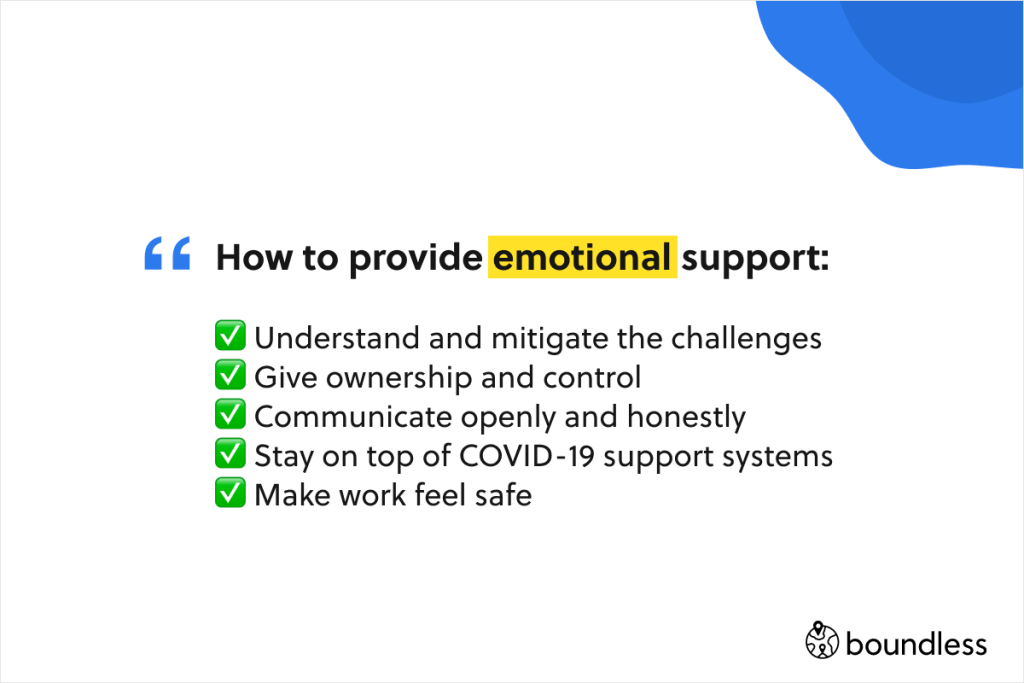 the key to providing emotional support to employees