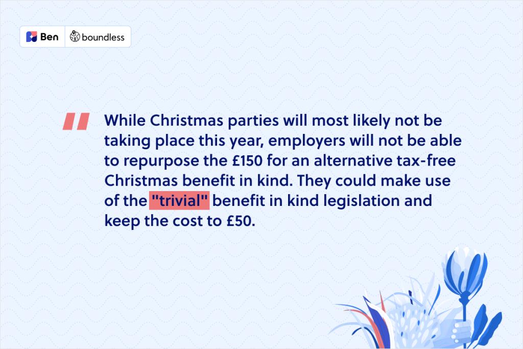 Christmas benefits
