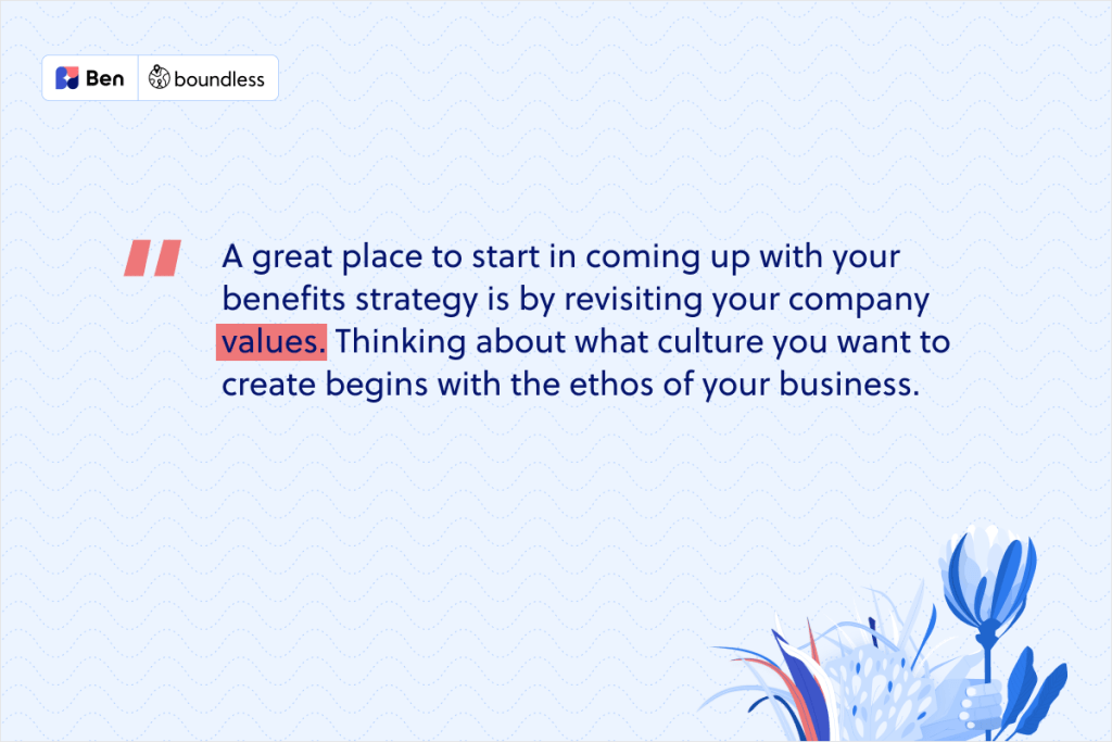 start with your values