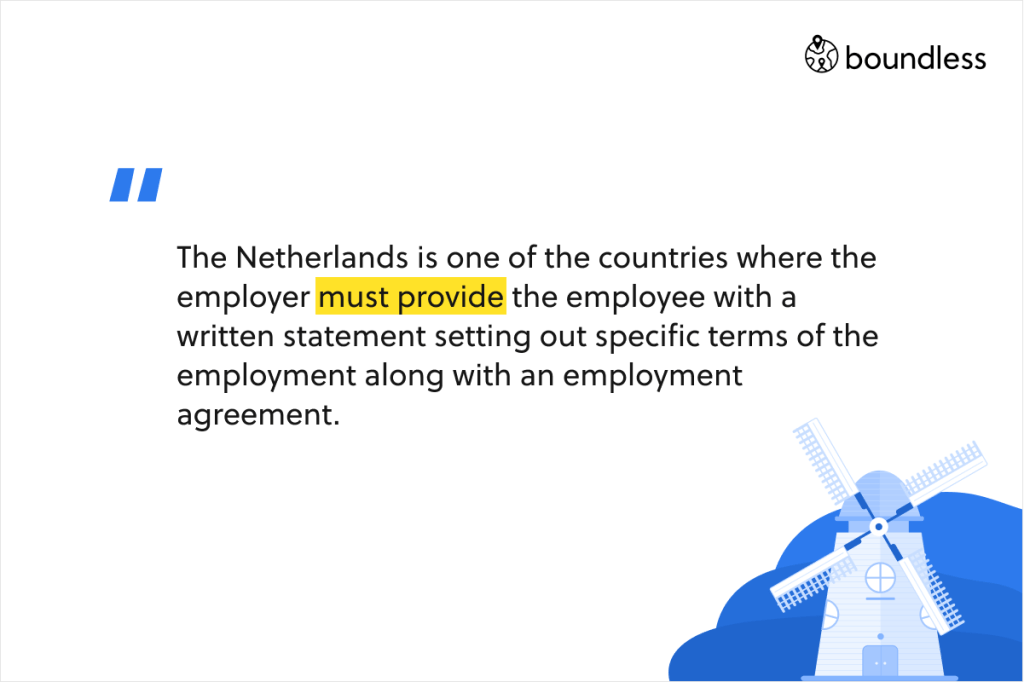 written employment agreement