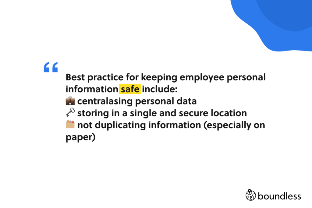 best practice for keeping international payroll employee information