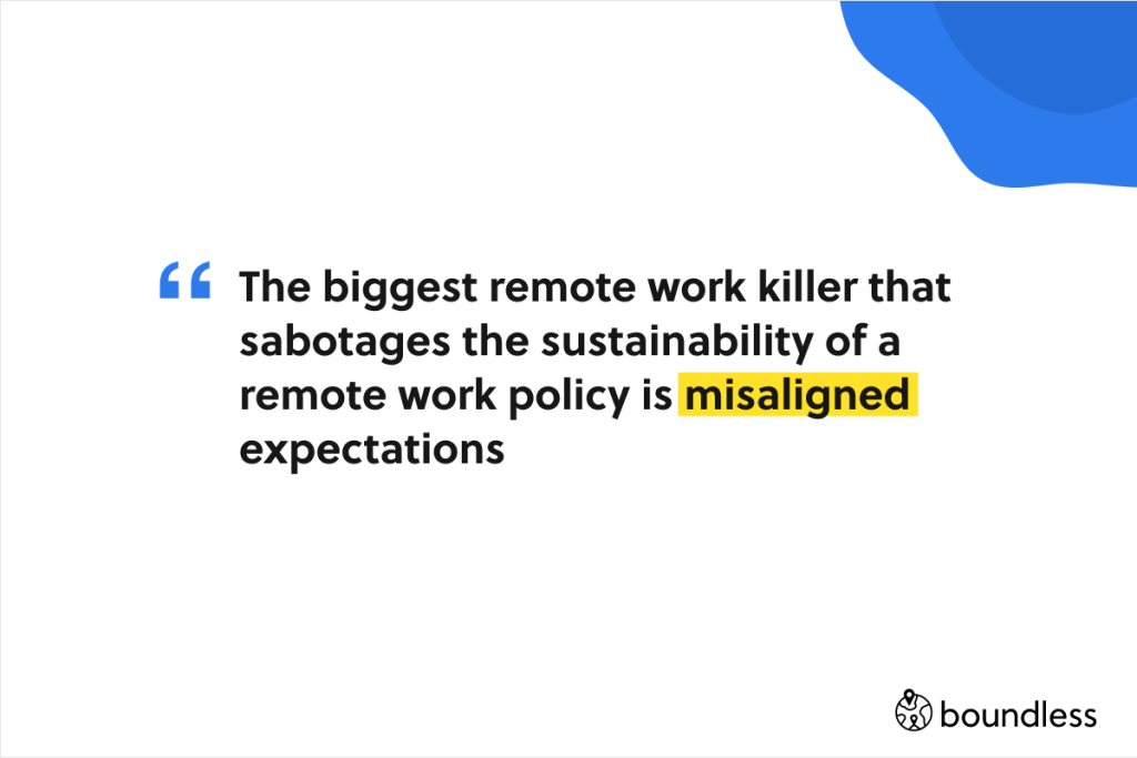 misalignment is the biggest remote work killer
