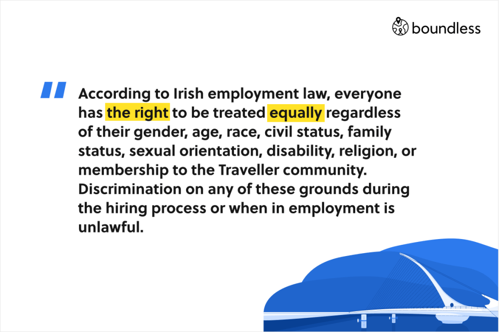 anti-discrimination employee law in Ireland