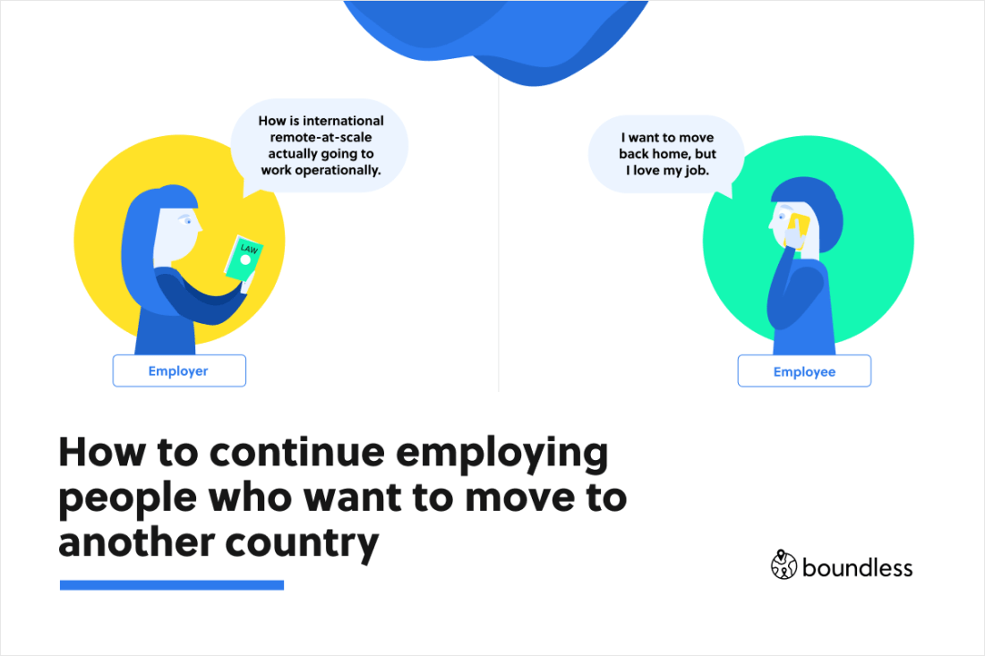How to continue employing people who want to move to another country