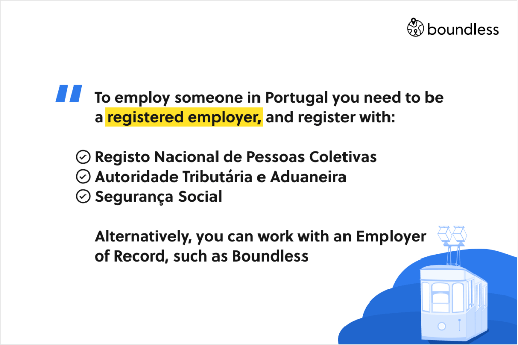 how to employ employees in Portugal