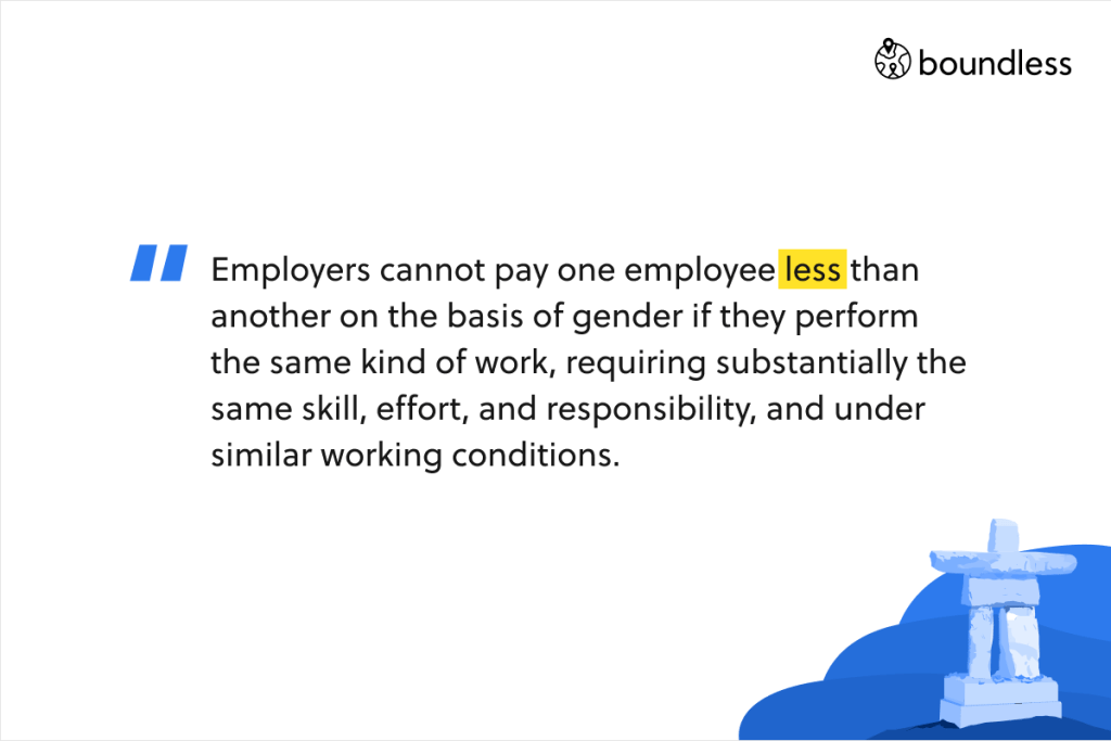 Employers cannot pay one employee less than another on the basis of gender if they perform the same kind of work, requiring substantially the same skill, effort, and responsibility, and under similar working conditions.