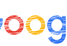Google logo drawn in crayon