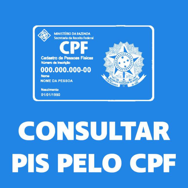 Como consultar meu o PIS pelo CPF?