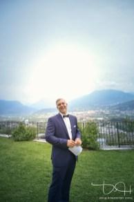 Der Hochzeitsfotograf in Italien am Gardasee.