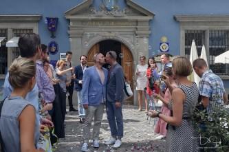 Hochzeitsfotograf bei Verpartnerung im Zunfthaus zur Waag/Zuerich.