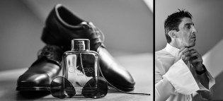 Tolle Momente beim getting ready faengt der Hochzeits Fotograf ein