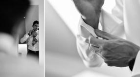 Der Braeutigam beim getting ready, fotografiert der Hochzeitsfotograf