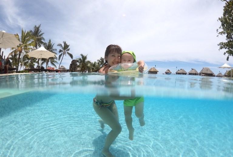 Moorea島(タヒチ)の 水上バンガロー 1歳児と滞在レビュー