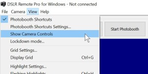 How to hide the camera controls in DSLR Remote Pro 3.8.1