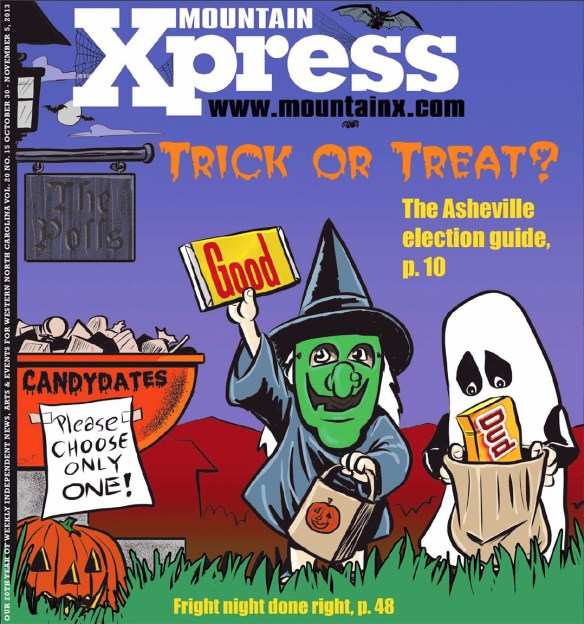 2013 Mountain Xpress Halloween Cover by Brent Brown