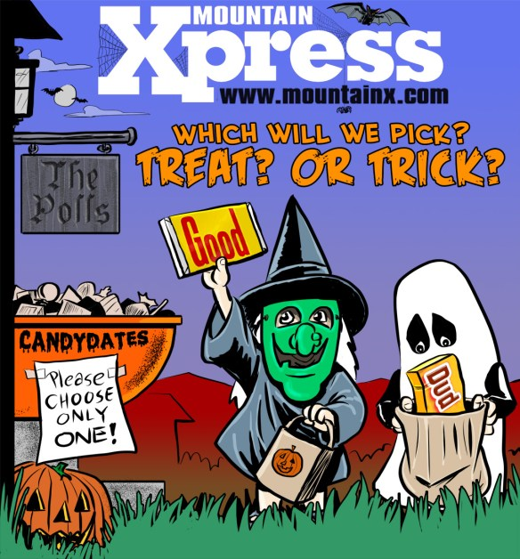 2012 Halloween cover for Mountain Xpress by Brent Brown