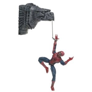 Spider-man movie super-poseable with Chrysler Building precipice
