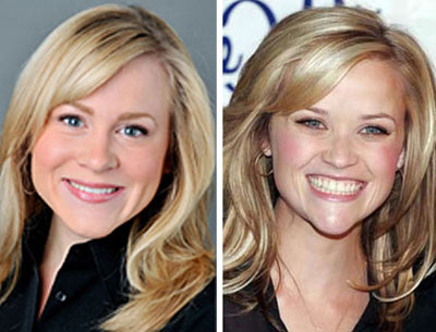 WLOS field chick reporter Courtney Brennan and frequent chick flicker Reese Witherspoon?