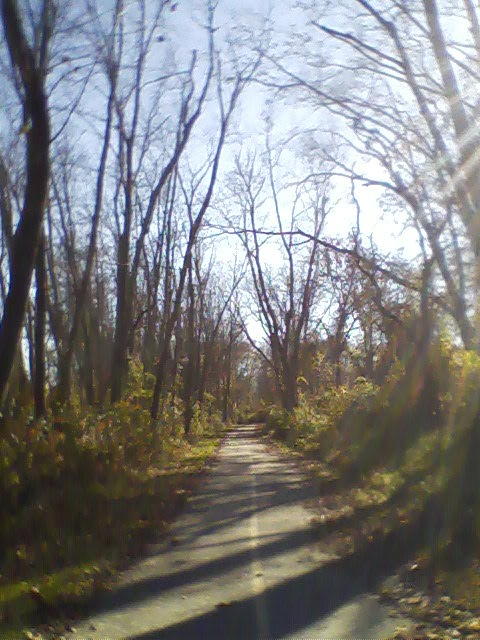 Almost to where Greenway enters Jackson Park.