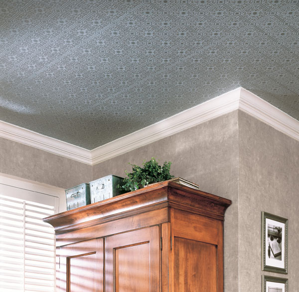 Putting wallpaper on ceiling tiles for Can you wallpaper over tiles