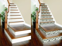 DIY Project: Wallpaper on Stair Risers!  Brewster Home