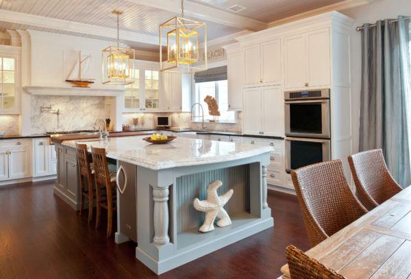 coastal style kitchen Coastal Chic Beach Homes – Brewster Home