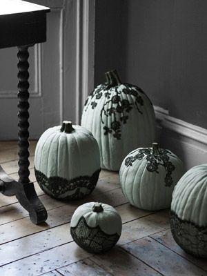 lace painted mint pumpkin