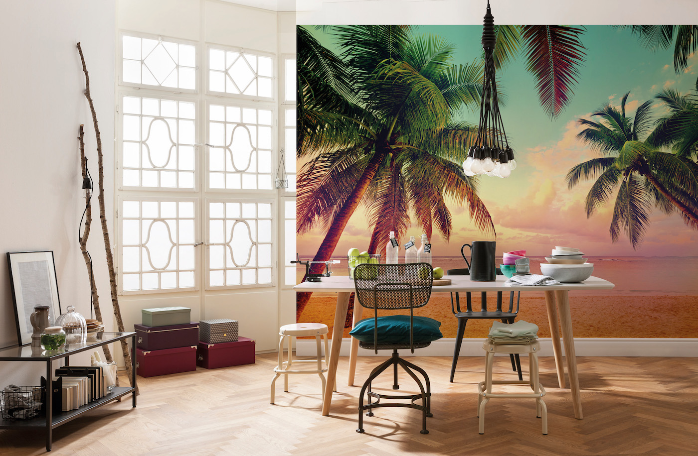 tropical wall mural