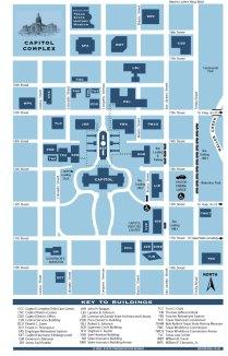 Texas Capitol Complex Map