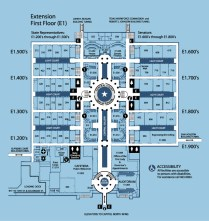 Texas Capitol Extension Map