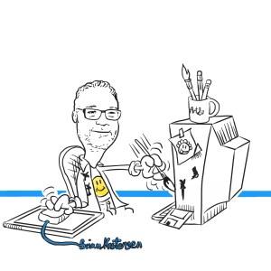 A selfie caricature - Sketch 17