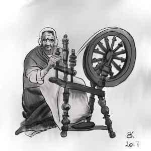 How to Draw A Spinning Wheel - Sketch 33