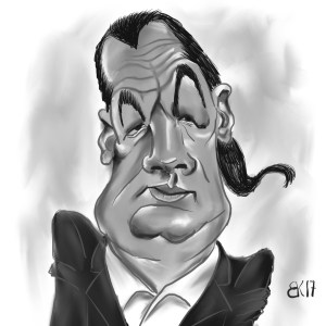 How to Draw A caricature of Steven Seagal - Sketch 51