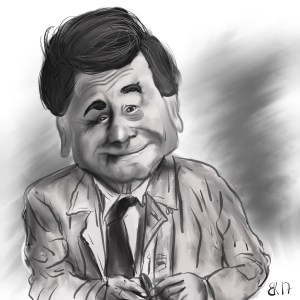 How to Draw A caricature of Peter Falk aka Columbo - Sketch 53