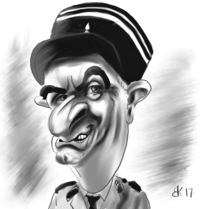 How to Draw A Caricature of Louis de Funès - Sketch 54