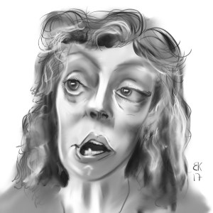 How to Draw caricature of Susan Sarandon - Sketch 64