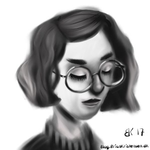 How to Draw a girl with glasses  - Sketch 83