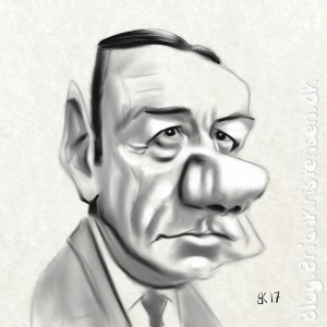 Caricature of Kevin Spacey from House of Cards - Sketch 93