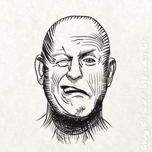 How to Draw a Bald Mann With Crooked Smile - Sketch 238